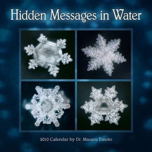 4 differnet water crystals deeply connected to the individual and collective consciousness. Hidden Messages in Water.